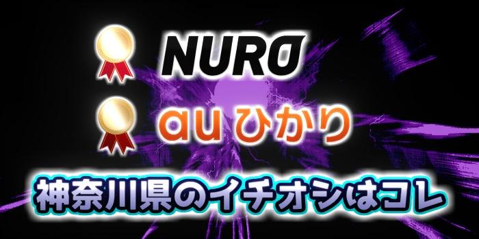 神奈川県の光回線のイチオシはNURO光とauひかり