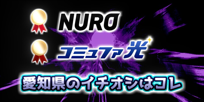 愛知県のイチオシはNURO光とコミュファ光