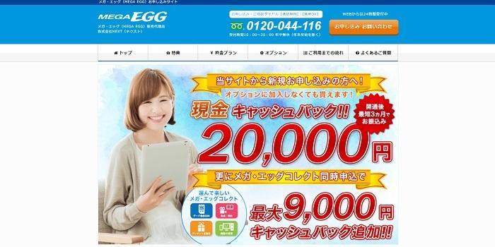 MEGAEGGの代理店NEXTのトップページ