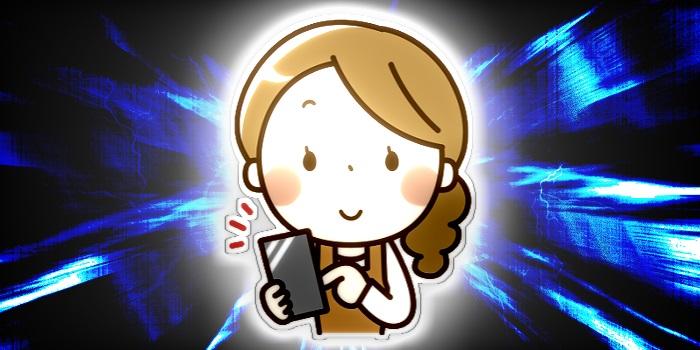 スマートフォンを使う主婦