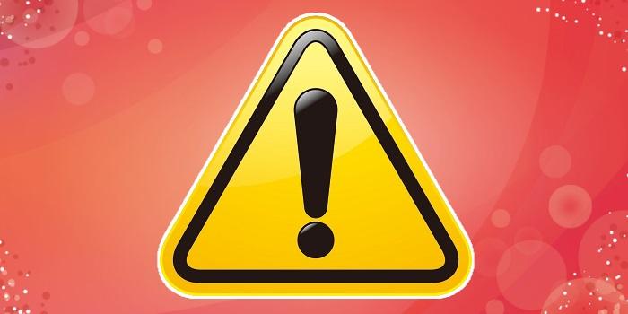 エクスクラメーションマークの警戒標識