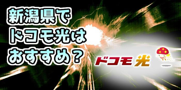 新潟県でドコモ光はおすすめ?