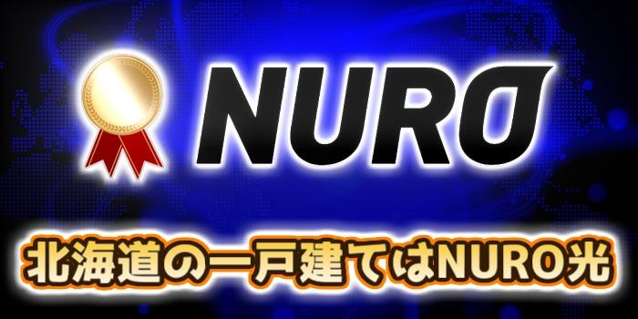 北海道の一戸建てはNURO光が一番おすすめ
